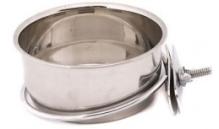 Miska metalowa przykręcana 9 cm