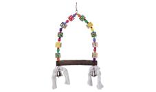 31682 - zabawka dla papug - huśtawka z klockami