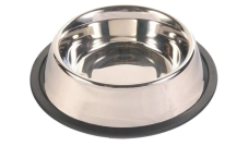 Miska metalowa dla psa 2,7 l na gumie