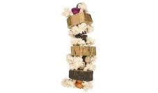 33009 - Zabawka wisząca - wieża ze sznurka i trzech drewnianych dysków 35 cm