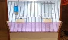 Klatka skrzynkowa DUŻA - BOX dla ptaków (fruwałka)